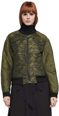 BCBGMAXAZRIA Gibson Quilted-Jacquard Camo Bomber