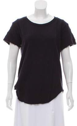 IRO Distressed Short Sleeve Top
