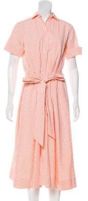 Lisa Marie Fernandez Gingham Short Sleeve Dress
