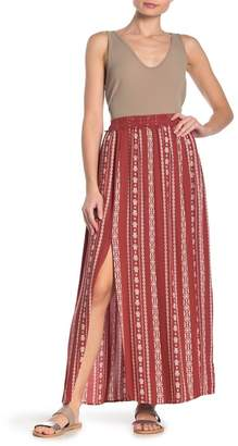 Angie Crochet Waist Double Slit Maxi Skirt