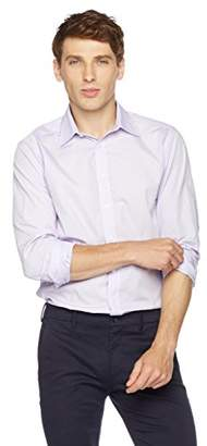 Clifton Heritage Men's Slim Fit Long-Sleeve Spread Collar Dress Shirt XS