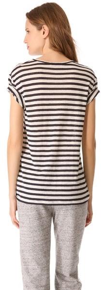 Alexander Wang Striped Short Sleeve Tee