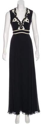 Temperley London Lace-Trimmed Evening Dress