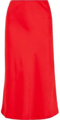 Maison Margiela Cady Midi Skirt - Red