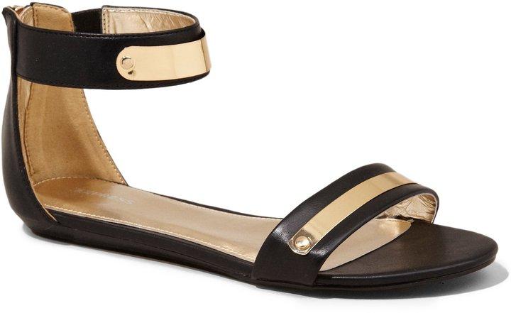 Express Zip Back Metal Bar Sandal