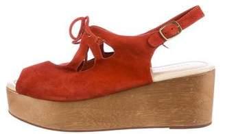 Madison Harding Suede Platform Sandals