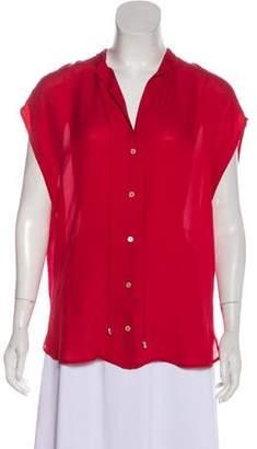 Haute Hippie Sleeveless Button-Up Blouse