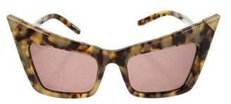 Alexander Wang x Linda Farrow Tortoiseshell Cat-Eye Sunglasses