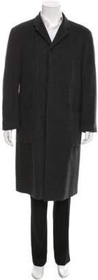 Armani Collezioni Cashmere Notch-Lapel Overcoat