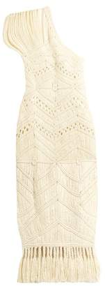 Tabula Rasa - Tuva Hand Macrame Silk And Wool Blend Dress - Womens - Cream