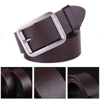 Sunrain coffee Belt Alloy Pin Buckle Waistband Genuine Leather Men Waist Wide Strap Casual