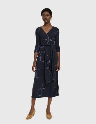 Paloma Wool Delfina Amor Print Wrap Dress