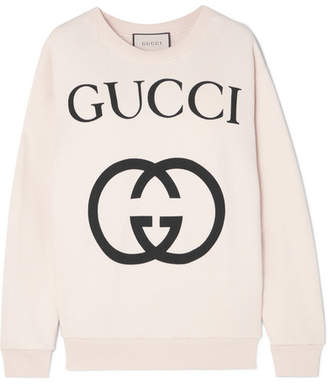 Gucci Printed Cotton-terry Sweatshirt - Ivory