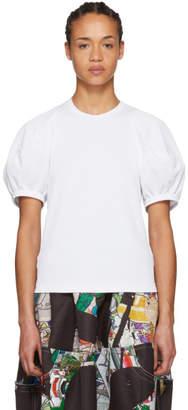 Comme des Garcons White Volume Sleeve T-Shirt