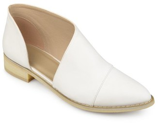Brinley Co. Women's Faux Leather Almond Toe D'orsay Flats