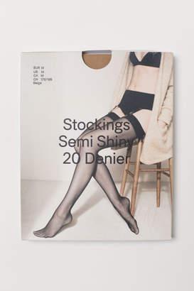 H&M 20 denier nylon stockings - Beige
