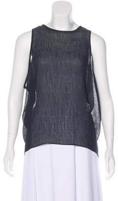 Helmut Lang Crepe Sleeveless Top