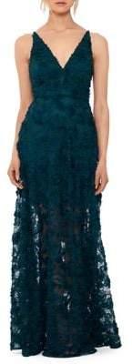 Xscape Evenings Sleeveless Floral Applique Gown