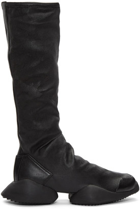 Rick Owens Black adidas Edition Runner Stretch High-Top Sneakers $1,435 thestylecure.com