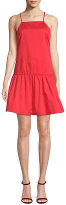 Armani Exchange Flounce Hem Mini Dress
