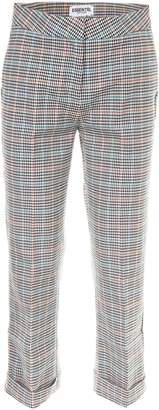 Essentiel Cropped Check Trousers