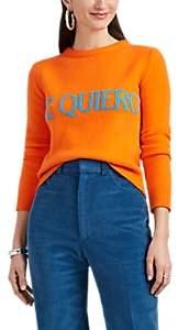 "Alberta Ferretti Women's ""Te Quiero"" Wool-Cashmere Crop Sweater - Orange"