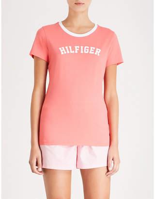 Tommy Hilfiger Logo-print cotton-jersey T-shirt