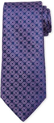 Charvet Small Floral Medallion Silk Tie