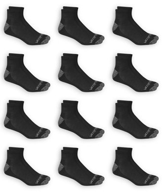 Fruit of the Loom Men's Dual Defense Ankle Socks 12 Pairs