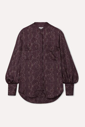 Equipment Helaine Snake-print Satin Blouse - Merlot