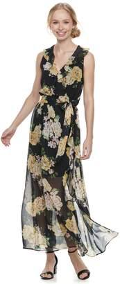 Disney Princess Juniors' Floral Surplice Maxi Dress