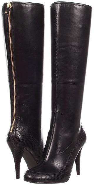 Rockport Presia Tall Boot (Black Amaze Strech) - Footwear