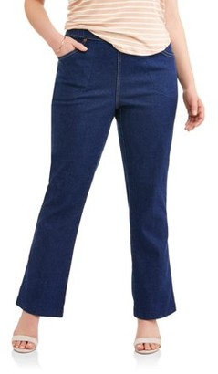 Just My Size Women's Plus-Size 4-Pocket Stretch Boot cut Pull-On Denim Jeans, Available in Regular and Petite Lengths