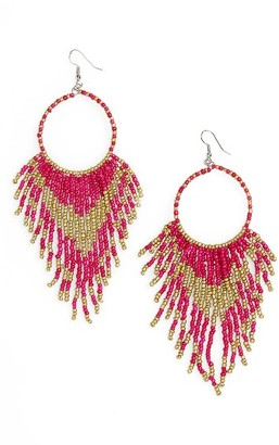 Women's Cara Beaded Circle Drop Earrings $22 thestylecure.com