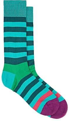Paul Smith Men's Earl Striped Cotton-Blend Mid-Calf Socks
