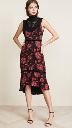 Alice + Olivia Evelina Ruffle Dress