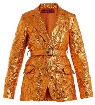 Sies Marjan - Terry Crinkled Finish Blazer - Womens - Orange