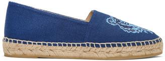 Kenzo Blue Canvas Tiger Espadrilles $180 thestylecure.com