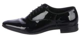 Saint Laurent Patent Leather Round-Toe Oxfords