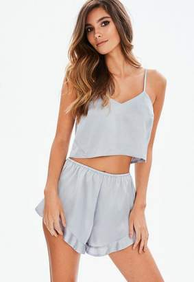 Missguided Satin Cami Short Pyjama Set
