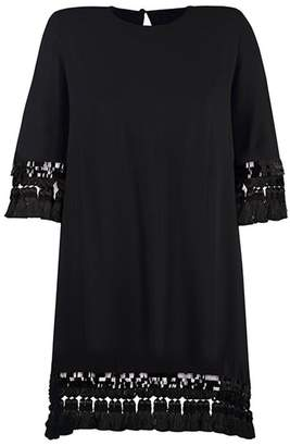 Mestiza New York Shimmy Shimmy Black Tassel Cocktail Dress
