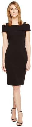 Adrianna Papell Crepe Off the Shoulder Cocktail Dress Women's Dress
