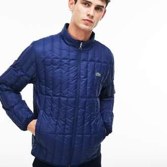 77d306c65 Lacoste Men s Lightweight Built-in Hood Quilted Down Packable Jacket