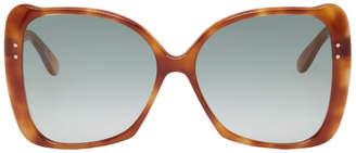 Gucci Tortoiseshell Oversized Buttery Sunglasses