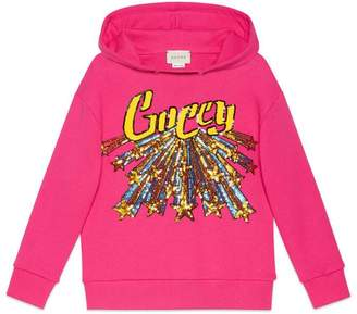 Gucci Children's sweatshirt with Guccy star print