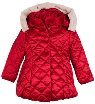 Mayoral Knitted Puffer Jacket, Size 3-7