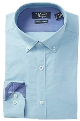 Original Penguin Twill Plaid Heritage Slim Fit Dress Shirt
