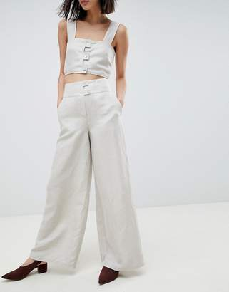 Asos Linen Tencel Co-ord Trouser