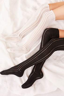 Me Moi Memoi Woodland Pointelle Over the Knee Socks