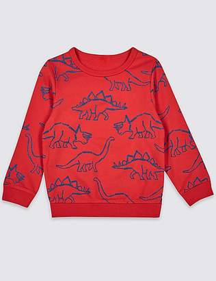 Marks and Spencer Pure Cotton Printed Sweatshirt (3 Months - 7 Years)